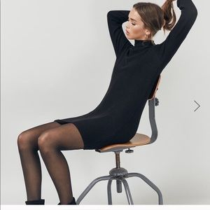 Reformation black mini dress